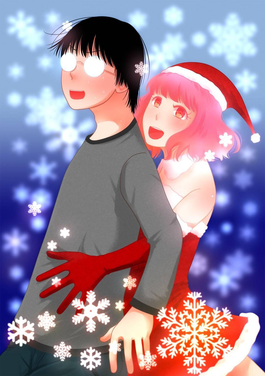 サンタコスの妖精男の娘とクリスマスを過ごす男…帰宅した男は部屋の中にケーキを売っていた男の娘がいてパニック!男の娘は自分は妖精だと告げるとエッチな事を考えてた事を読心しキス!フェラやアナルを責めるとデカマラでアナルセックス!